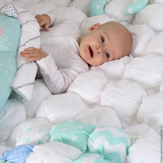 """Пледы и одеяла ручной работы. Ярмарка Мастеров - ручная работа. Купить Бомбон-одеяло """"Белоснежное"""". Handmade. Белый, одеяло детское"""