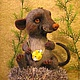 Игрушки животные, ручной работы. Ярмарка Мастеров - ручная работа. Купить войлочный Крыс Маркус. Handmade. Крыса, проволока с памятью