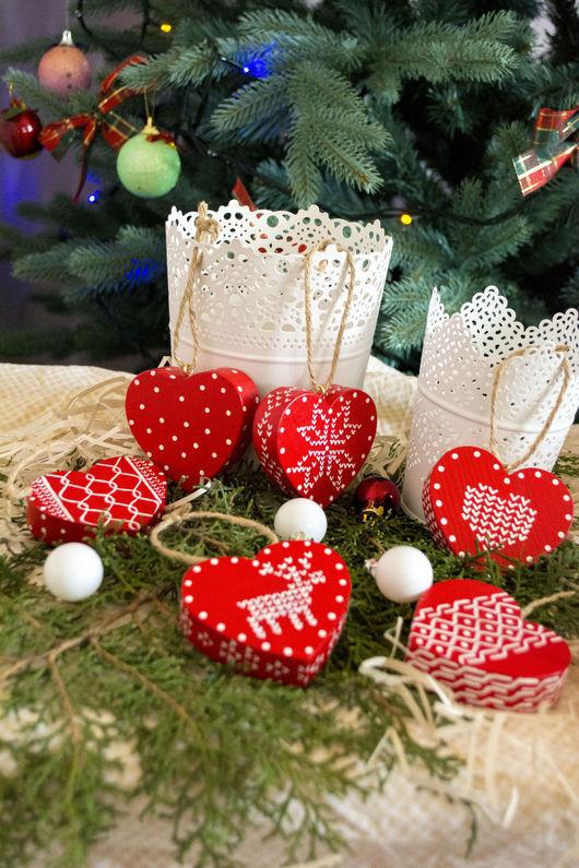 Подарки для влюбленных ручной работы. Ярмарка Мастеров - ручная работа. Купить деревянные сердца. Handmade. Ярко-красный, красный, дерево