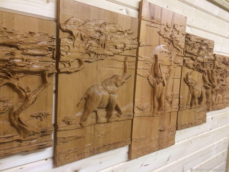 Слоны в саванне, Картины, Королев, Фото №1
