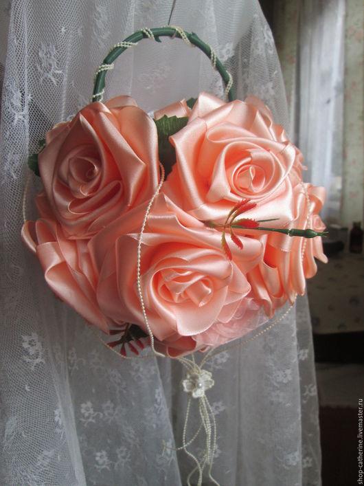 Свадебные цветы ручной работы. Ярмарка Мастеров - ручная работа. Купить Букет невесты для фотосессии. Handmade. Оранжевый