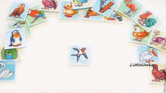 """Развивающие игрушки ручной работы. Ярмарка Мастеров - ручная работа. Купить """"Птицы"""" - развивающие чудо-карточки для настольных игр. Handmade."""