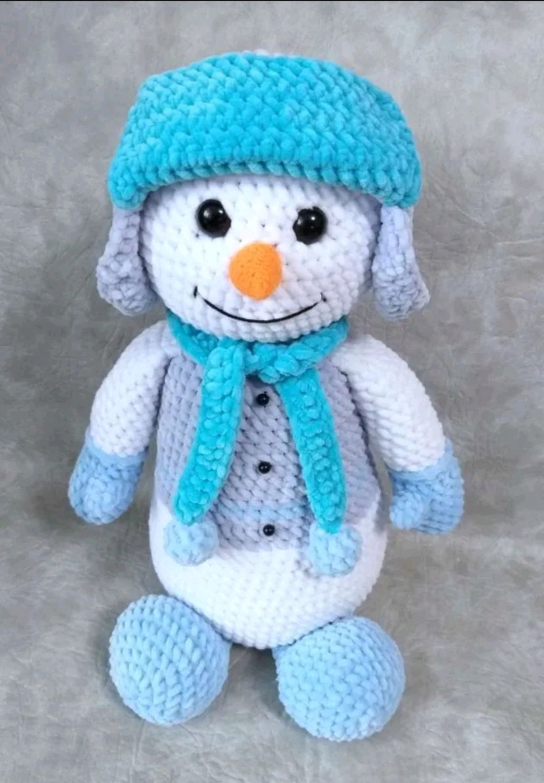 Вязаный снеговик ручной работы, Мягкие игрушки, Ярославль,  Фото №1