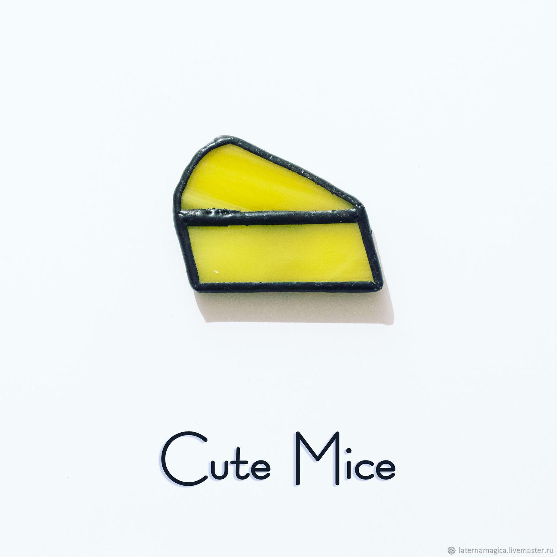 Магниты на холодильник из стекла Милые Мышата Cute Mice Сыр #009, Магниты, Новосибирск,  Фото №1
