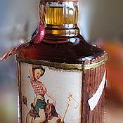 Подарки к праздникам ручной работы. Ярмарка Мастеров - ручная работа Декупаж бутылки. Handmade.