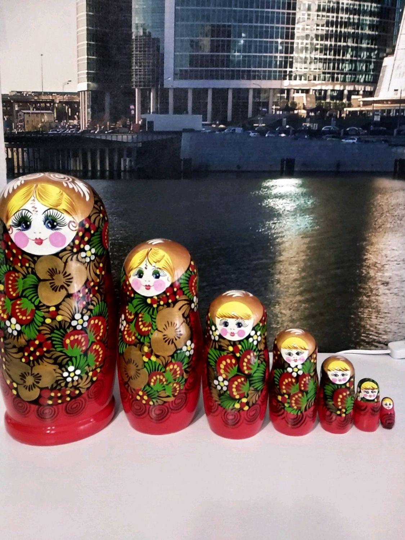 Матрёшка хохлома, Народные сувениры, Москва, Фото №1