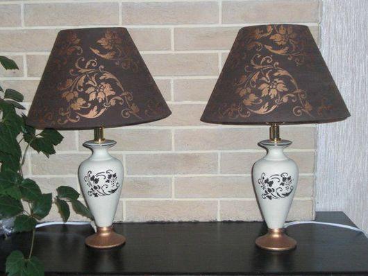 """Освещение ручной работы. Ярмарка Мастеров - ручная работа. Купить Комплект ламп настольных """"Будуар"""". Handmade. Лампа настольная, спальня"""