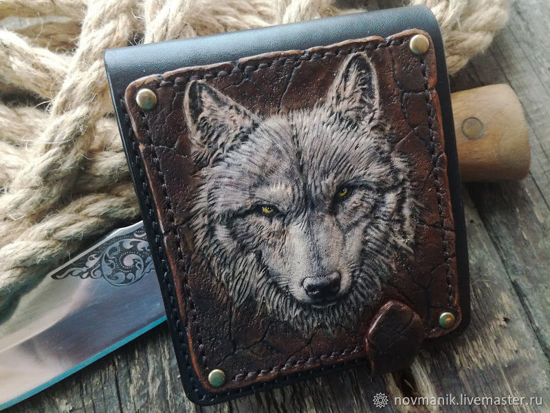 Портмоне (кошелек, бумажник) двойного сложения (Bi-fold wallet) № 35, Кошельки, Ковров,  Фото №1