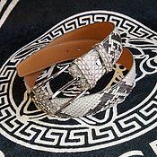 Аксессуары handmade. Livemaster - original item Belt made of genuine python leather in natural color!. Handmade.