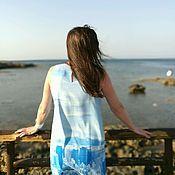 """Одежда ручной работы. Ярмарка Мастеров - ручная работа Летнее платье """"Море и город"""". Handmade."""