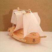 Модели ручной работы. Ярмарка Мастеров - ручная работа Корабль из кедра. Handmade.
