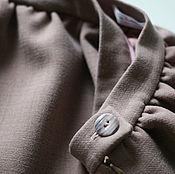 Одежда ручной работы. Ярмарка Мастеров - ручная работа Юбка из плотной шерсти на подкладе. Handmade.