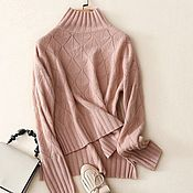 Одежда handmade. Livemaster - original item Cashmere patterned jumper. Handmade.