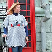Одежда handmade. Livemaster - original item poncho knitted ladies London copyright. Handmade.