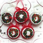 Подарки к праздникам ручной работы. Ярмарка Мастеров - ручная работа Игрушка на елку Рождественский венок. Handmade.