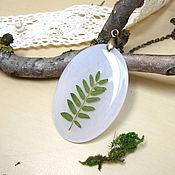 Украшения handmade. Livemaster - original item Pendant with Real Green Leaf Forest Fairy number №3. Handmade.