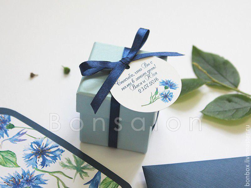 Плотная коробочка из переплетного картона 5х5х5 см, Бонбоньерки, Москва,  Фото №1