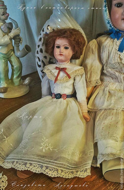 Коллекционные куклы ручной работы. Ярмарка Мастеров - ручная работа. Купить Кукула в антикварном стиле Марта. Handmade. Разноцветный