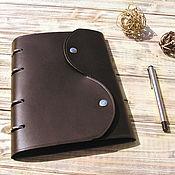 Канцелярские товары handmade. Livemaster - original item Leather notebook on rings A5 format. Handmade.