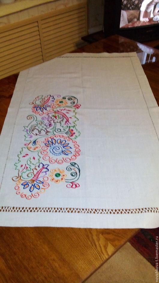 Текстиль, ковры ручной работы. Ярмарка Мастеров - ручная работа. Купить Скатерть-дорожка. Handmade. Комбинированный, нитки мулине