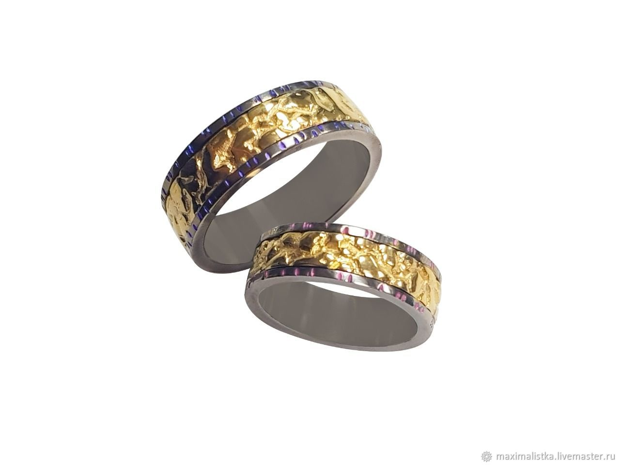 Wedding rings 'Sign of fate' of gold on titanium, Engagement rings, Moscow,  Фото №1