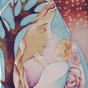 """Аксессуары ручной работы. Ярмарка Мастеров - ручная работа Шарф """"Мама"""". Handmade."""