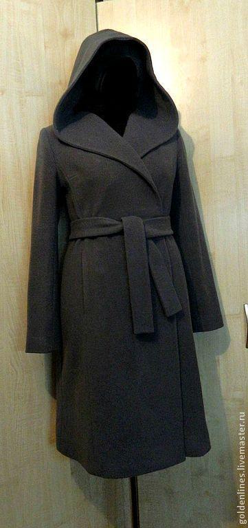 Верхняя одежда ручной работы. Ярмарка Мастеров - ручная работа. Купить пальто с капюшоном. Handmade. Серый, пальто, стильное пальто