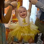 Работы для детей, ручной работы. Ярмарка Мастеров - ручная работа Футболка с цифрой и юбка-пачка Амели. Handmade.