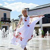"""Одежда ручной работы. Ярмарка Мастеров - ручная работа Платье """"Розы на белом"""". Handmade."""