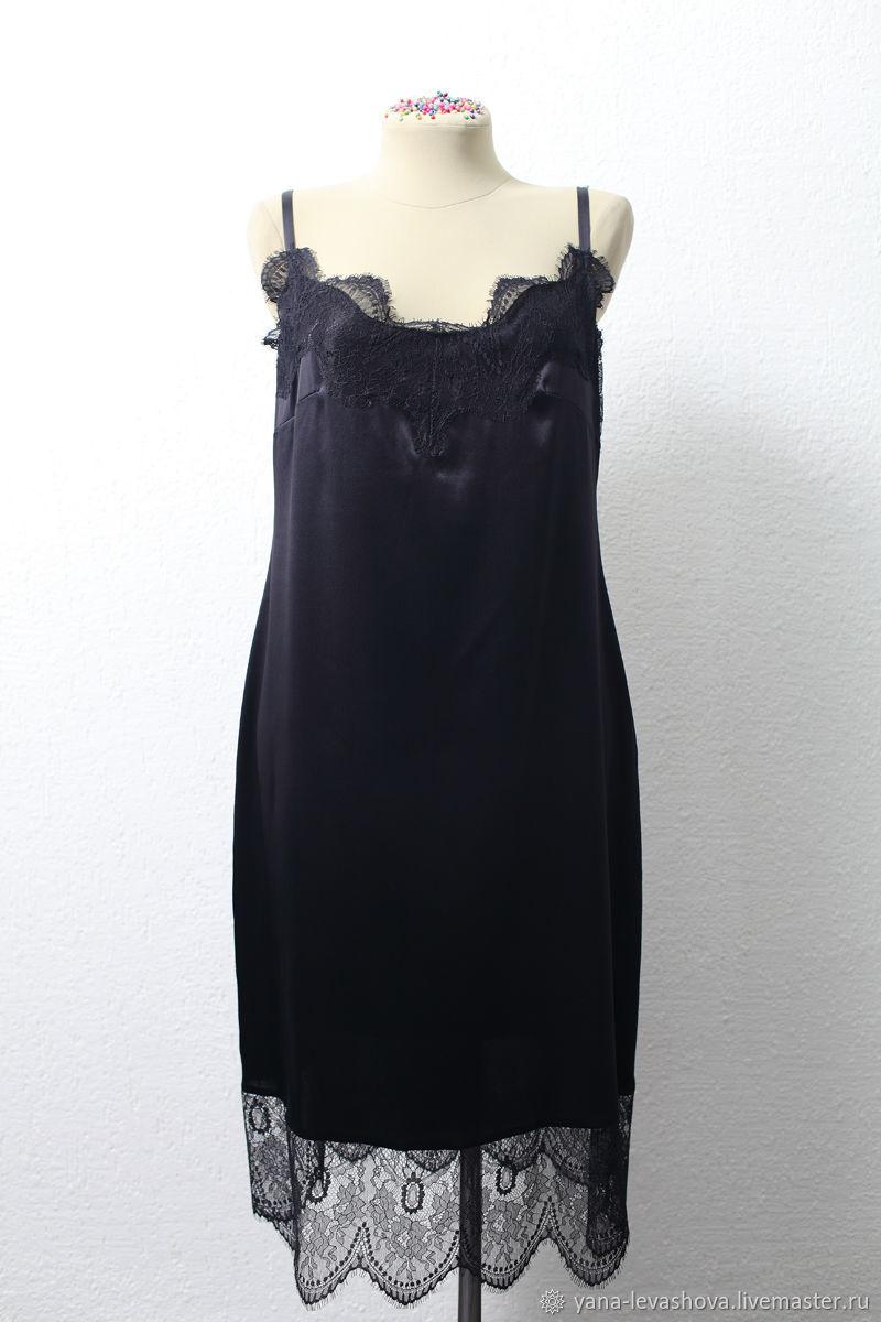 b8d947b5969 Платья ручной работы. Ярмарка Мастеров - ручная работа. Купить Платье-комбинация  из шелка ...