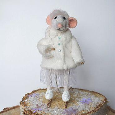 """Куклы и игрушки. Ярмарка Мастеров - ручная работа Игрушки: """" Мышка - Фигуристка"""" 2. Handmade."""