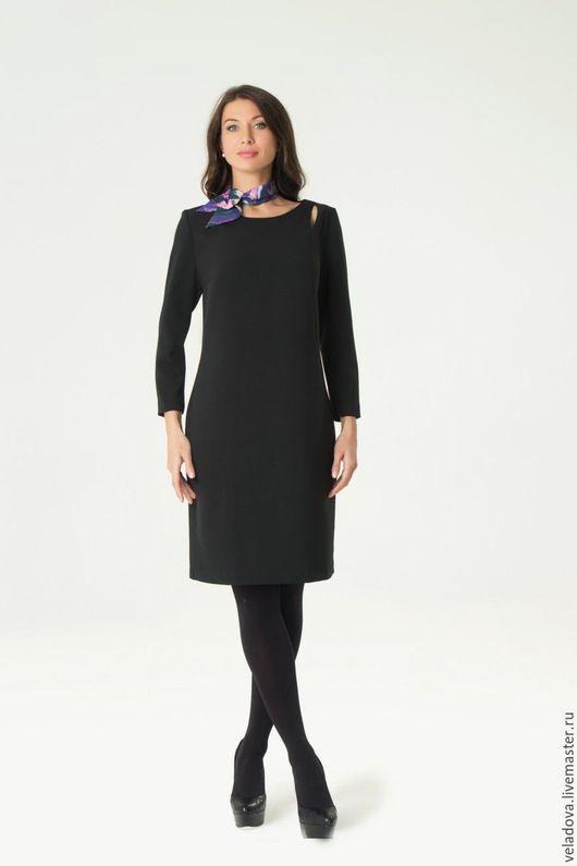 """Большие размеры ручной работы. Ярмарка Мастеров - ручная работа. Купить Платье черное  """"Грация"""". Handmade. Черный, классическое платье"""