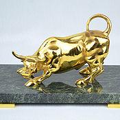 Сувениры и подарки handmade. Livemaster - original item The bull on the stand.( Chrysostom). Handmade.