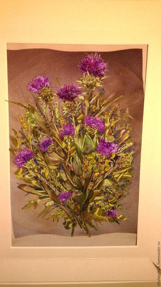 Ярмарка мастеров-ручная работа. Handmade. картины цветов ручной работы.  цветы шелковыми лентами. Цветы вышитые. купить подарок. для интерьера. картина вышитая шелком.