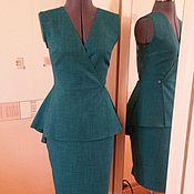 Одежда ручной работы. Ярмарка Мастеров - ручная работа Изумрудный комплект с юбкой. Handmade.