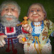 Куклы и игрушки ручной работы. Ярмарка Мастеров - ручная работа Бабуля с дедулей. Handmade.