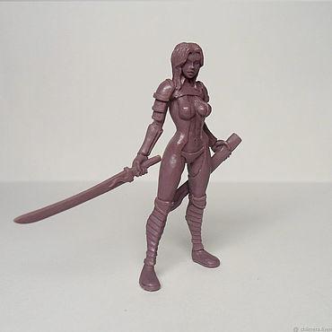 Девушка с мечом 54 мм