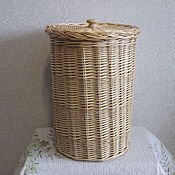 Для дома и интерьера handmade. Livemaster - original item A high round basket with lid. Handmade.