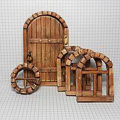 Куклы и игрушки ручной работы. Ярмарка Мастеров - ручная работа Дверь и окна (комплект). Handmade.