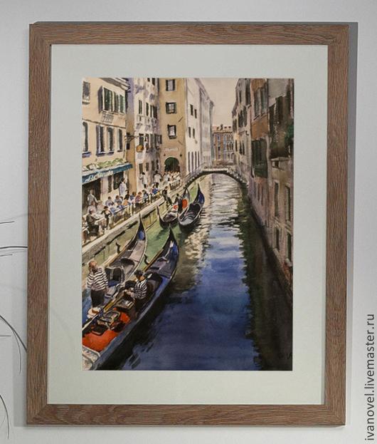 `Гондольеры` Иванов Е.Л. Венеция, Италия (2010) Пример картины в интерьере.