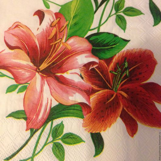 Лилия нежная и страстная - салфетка для декупажа Декупажная радость