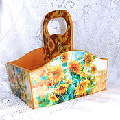 Для дома и интерьера handmade. Livemaster - original item Box for spices Sunflowers. Handmade.