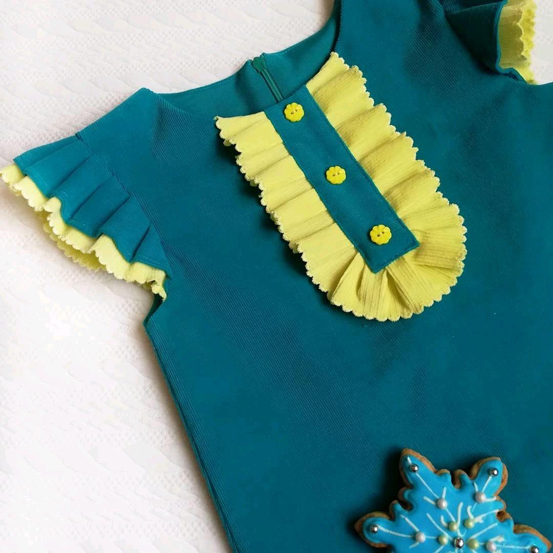 Вельветовое платье для девочки