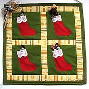 Подарки к праздникам ручной работы. Ярмарка Мастеров - ручная работа Мини-панно Сапожки. Handmade.