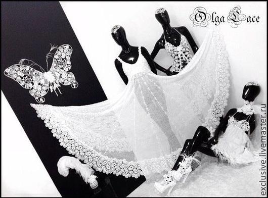 Одежда и аксессуары ручной работы. Ярмарка Мастеров - ручная работа. Купить Кружевное свадебное платье. Handmade. Белый