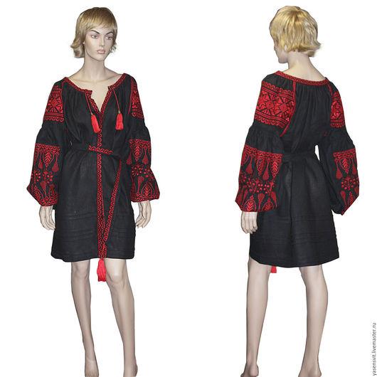 Платья ручной работы. Ярмарка Мастеров - ручная работа. Купить Вышиванка Бохо стиль Вышитая туника Украинская вышивка Льняная блузка. Handmade.