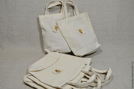 Подарочная упаковка ручной работы. Ярмарка Мастеров - ручная работа. Купить Текстильные сумочки для подарков. Handmade. Бежевый, для подарка, Экосумка