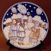 """Посуда ручной работы. Ярмарка Мастеров - ручная работа Тарелка """"Колядовщики"""". Handmade."""