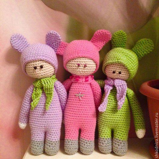 Человечки ручной работы. Ярмарка Мастеров - ручная работа. Купить куклы. Handmade. Брусничный, фиолетовый, хлопок 100%