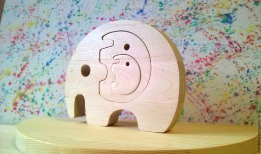 Развивающие игрушки ручной работы. Ярмарка Мастеров - ручная работа. Купить Сувенир пазл вставка слоники. Handmade. Комбинированный, пазлы